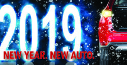 the year 2019 with red car