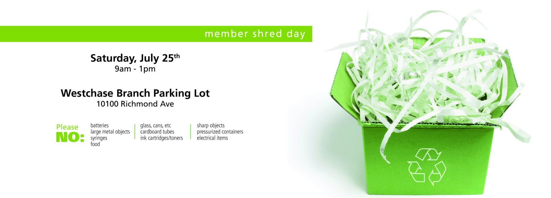 recycle box with shredded paper