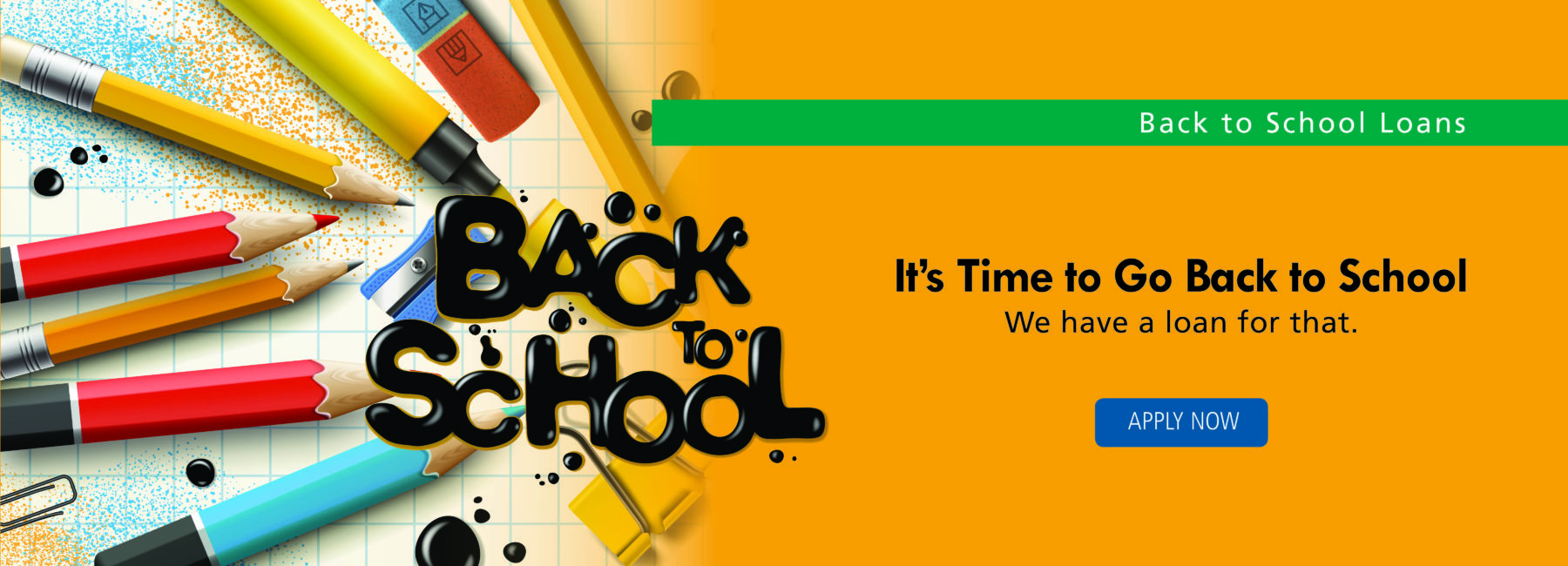 Back to school text and school supplies image