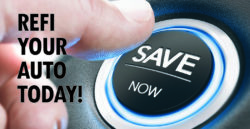 car start press button with words save now on it